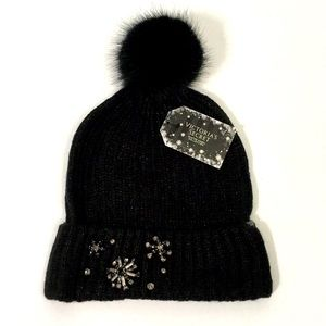 Victoria's Secret embellished Pom Pom hat